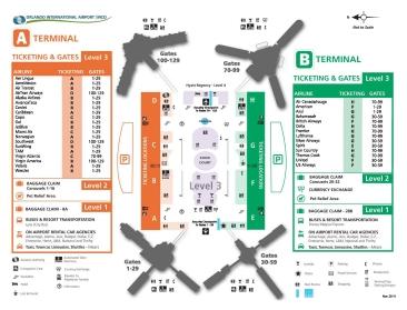 Orlando Airport Map MCO Airport Map   Sheraton Suites Orlando AirportSheraton Suites  Orlando Airport Map